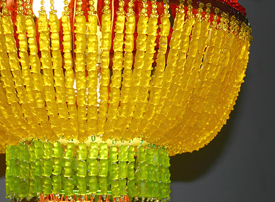 YaYa Chou Main Page :  childrens gummi bears hand made chandelier